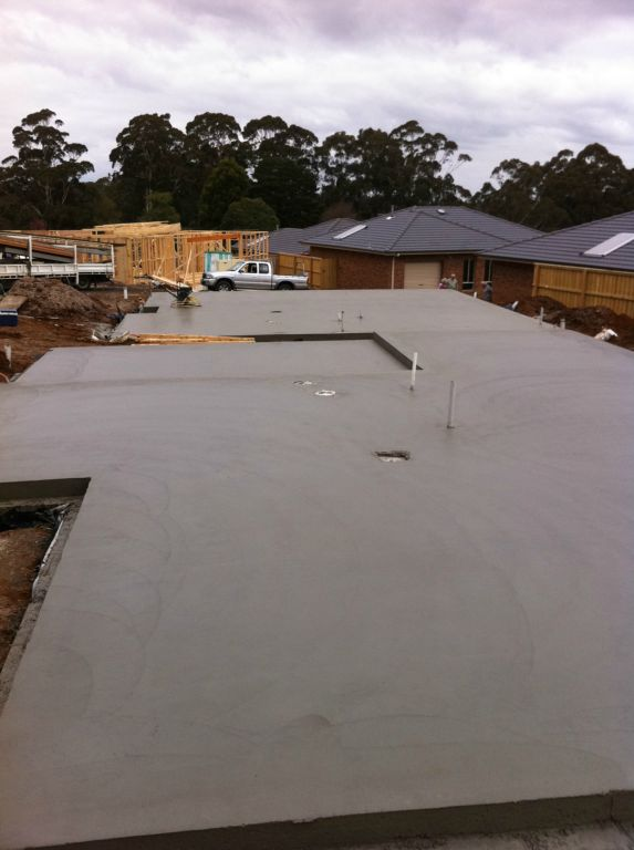 R a concreting house slabs unit developments industrial for Slab homes
